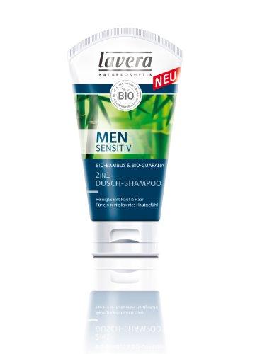 lavera Men sensitiv 2in1 Dusch-Shampoo, Duschgel für Männer 2er Pack (2 x 150 ml)
