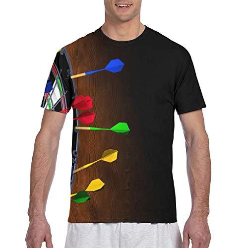 Dart Board Herren Casual Kurzarm Shirt Fit Baseball T-Shirts T-Shirt