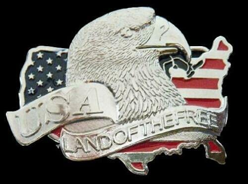USA Land of The Free Buckle American Bald Max 70% OFF Belt Complete Free Shipping Eagle