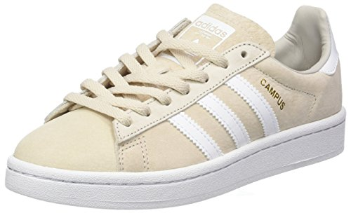adidas Damen Campus Sneaker, Mehrfarbig (Clear Brown/FTWR White/Crystal White S16), 40 2/3 EU