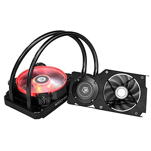 Tarjeta gráfica refrigeración por agua radiador con ventilador de refrigeración de alta intensidad, kit de refrigeración de tarjeta de vídeo con diseño de hebilla multiplataforma para GTX960/980/980Ti