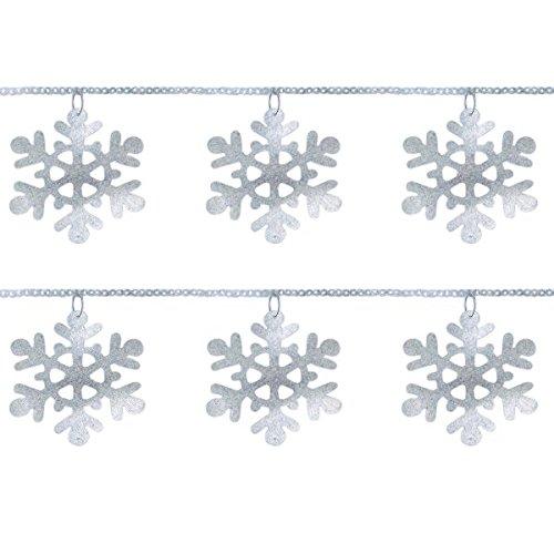 Amscan Guirnalda de Anillo con Lentejuelas de Copo de Nieve, decoración navideña
