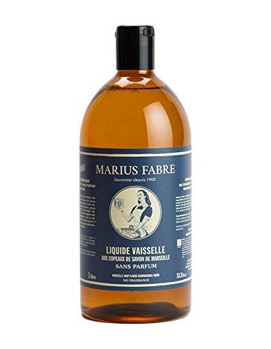 Marius Fabre - Copas de jabón de Marsella líquido para vajilla (1 L)