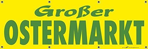 Banner reclamebanner - grote Pasen markt - 3x1m - spanband voor uw reclameoptreden/bedrukt met uw motief - 309923/1