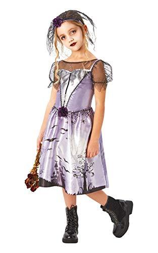 Rubies Disfraz oficial de novia gótica, para fiesta de graduación, para Halloween, talla grande, 7 – 8 años