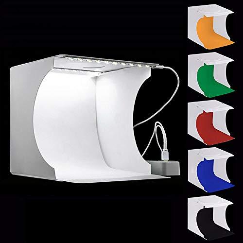 Hands DIY Caja de Luz Fotografía para Estudio FotográFico de 23 cm Equipo FotográFico Portátil Mini Caja Fotografía Portátil Plegable