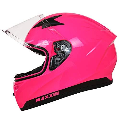 Leopard LEO-813 Integralhelm (XS-XXL) Motorradhelm Neon Pink XL (61-62cm) Damen und Herren ECE Genehmigt