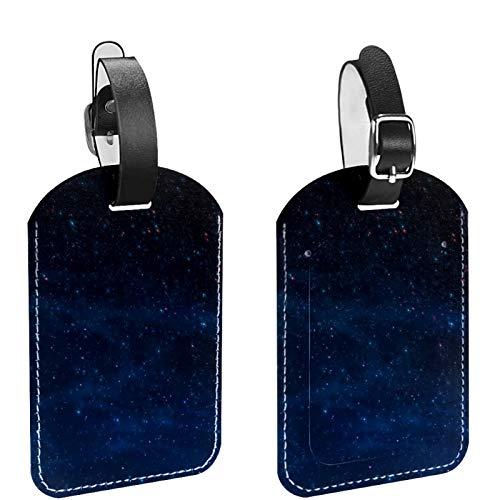 2 paquetes de etiquetas flexibles para equipaje de viaje para bolsas de equipaje, maletas, bolsas escolares – Juego de etiquetas de identificación de nombre para viajes, fantástico patrón de cielo