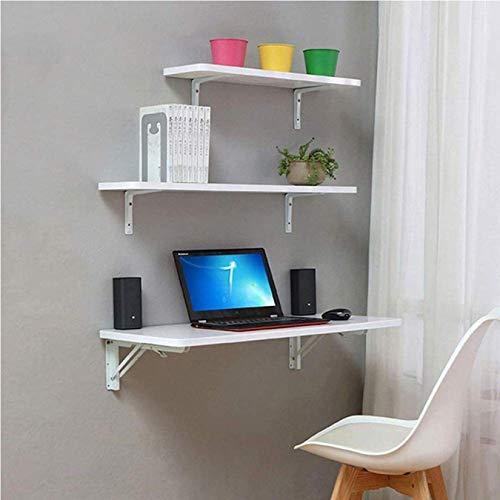 Mesa De Cocina Plegable con 2 soportes Panel a base de madera Mesa de estudio de comedor , Mesa abatible montada-100 * 50cm / 40 * 20in120 * 40cm / 48 * 16in, Onecolor, 40*40cm/16*16in
