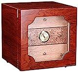 JIAWYJ XIAOJUAN Cabina de cigarro Humidor de cigarro de Tres Capas de Tres Capas portátil de Cedro portátil Hidratante Caja de cigarro Caja Decorativa