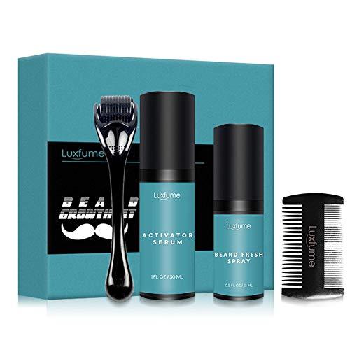 bester Test von regaine manner schaum Draulic 4-teiliges Bartpflegeset, Bartwachstums-Kit, flüssige Bartwachstumsrolle für die Bartreinigung…