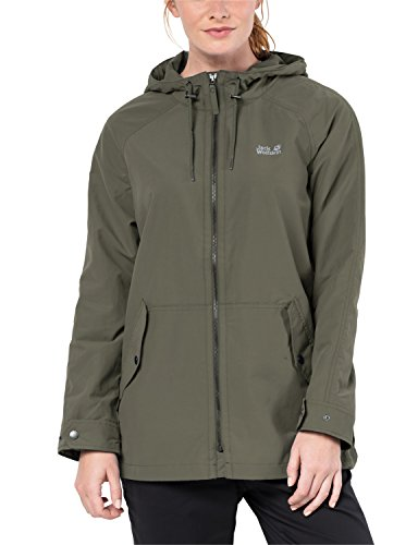 Jack Wolfskin Damen Lewiston Windbreaker, Woodland Green, XS