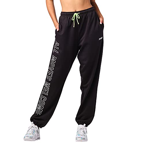 Zumba Fitness Zumba Aktiv Dance Sport Fitness Jogginghose Stilvoll Gym Lockere Hosen Damen Pantalones de chándal, Blackout Moves, XS para Mujer