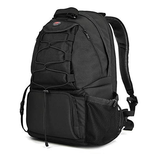 """Camera Backpack, Waterproof Large DSLR Camera Bag with 15.6"""" Laptop Compartments Rain Cover, Outdoor Travel Camera Backpack Case for Nikon Canon Sony Pentax DSLR/SLR Cameras, Tripod and Accessories"""
