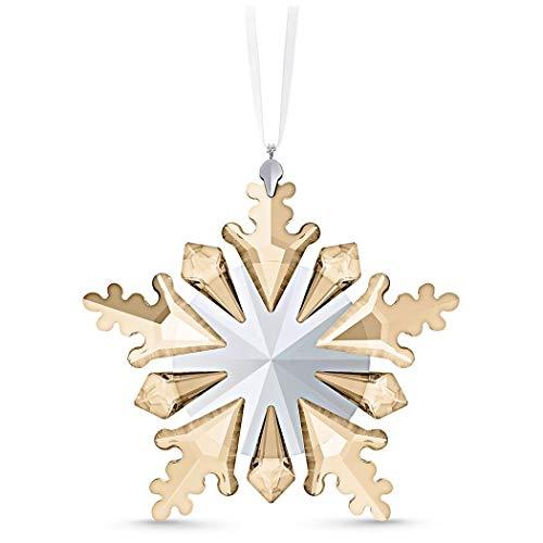 Swarovski Ornament, Crystal, Brown/Beige, 10 x 10 x 1.5 cm