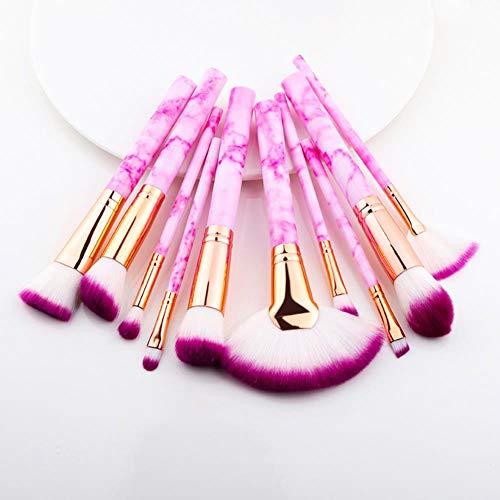 Maquillage anticernes multifonction brosse brosse de maquillage fard à paupières Foundation 2020 outil pinceau de maquillage,Secteur 10Pcs rose