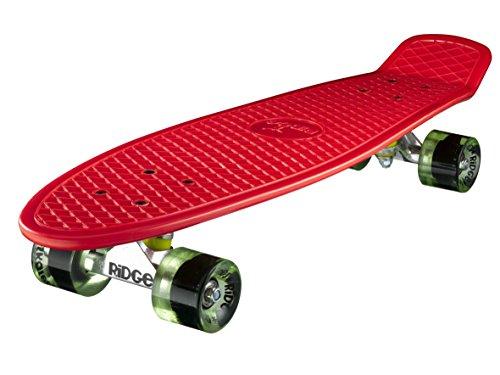 Ridge Skateboard Big Brother Nickel 69 cm Mini Cruiser, rot/klar grün