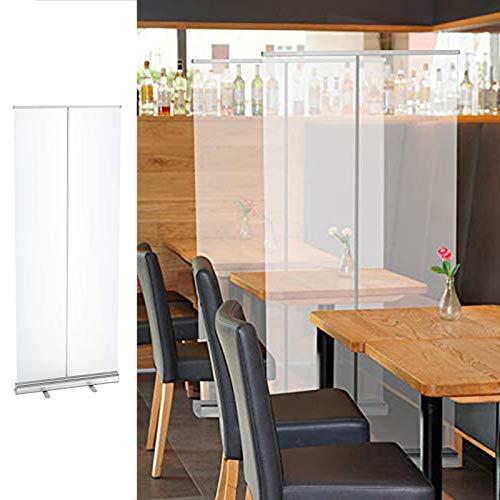 CYGG Pantalla de protección ajustable independiente para la seguridad de empresas y clientes, distancia social para restaurantes, oficinas, 60 x 160 cm