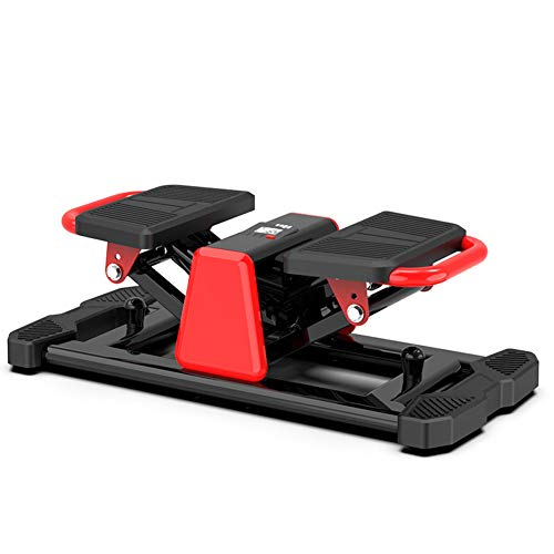 ZKORN Mini Stepper, Step Exercise Fitness Machine Equipo Aerobic Gimnasio doméstico Mute hidráulico con Bandas de Resistencia Cinta de Correr Duradera y Segura con cómodos Pedales