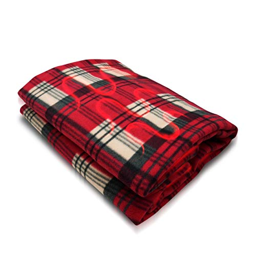 VaygWay Electric Heated Car Blanket – 12 Volt Fleece Travel Blanket – Throw for Car...