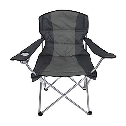 Unbekannt Campingsessel 58x58x95cm Klappstuhl Farbe wählbar Campingstuhl Stuhl Polyester, Farbe:grau