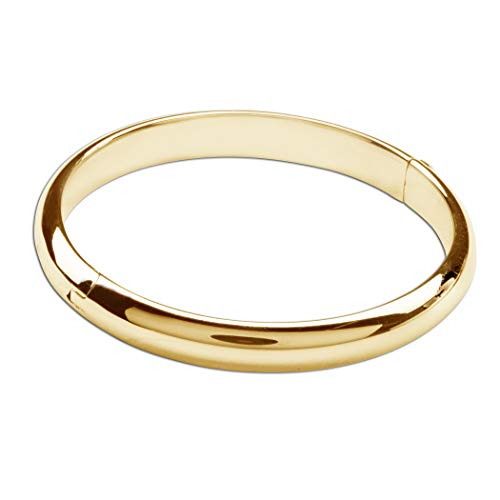 Children's and Adult's 14K Gold-Plated or Sterling Silver Classic Baby Bangle Bracelet