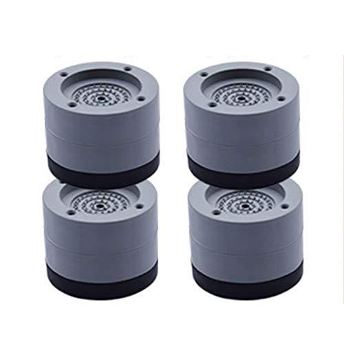 DirkFigge Alfombrillas para lavadora para frigorífico, alfombrilla para pies de goma, absorción de golpes, antideslizante, fija, universal, para muebles y electrodomésticos