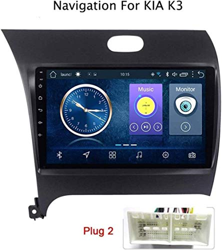 Lour Android 8.1 GPS Navigation Radio TV, 9 Zoll Full Touch Screen Bildschirm Autoradio, für KIA K3 2013-2017, mit DAB CD DVD Lenkradkontrolle Bluetooth USB AUX Mirror Link,4G+WiFi,1+16G-.