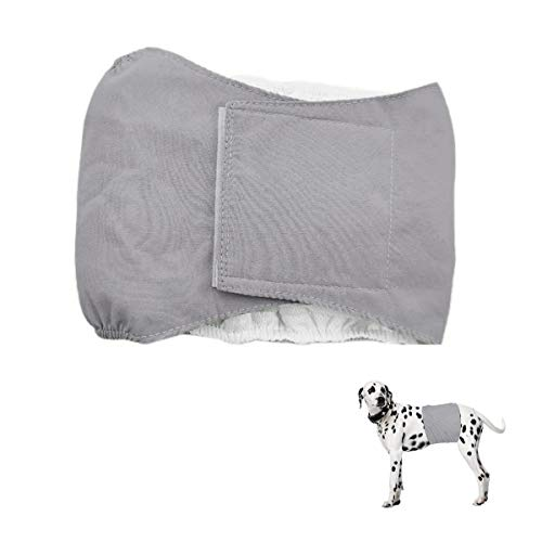 Smniao Hygieneunterhose für Hündinnen Rüden Hundewindeln Inkontinenz Haustier Weibliche groß Hund Katze Windel Schutzhose Unterwäsche (M, Grau)