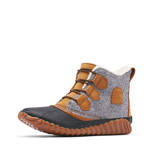 Sorel - Women's Out 'N About Plus Waterproof Boot, Leather/Felt, Quarry, 9 M US