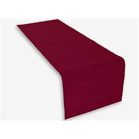 1 x Chemin de table en couleur bordeaux 45x150 cm 100% coton 285 gr/qm. Excellent qualité. Produit de marque Lemos-Home.