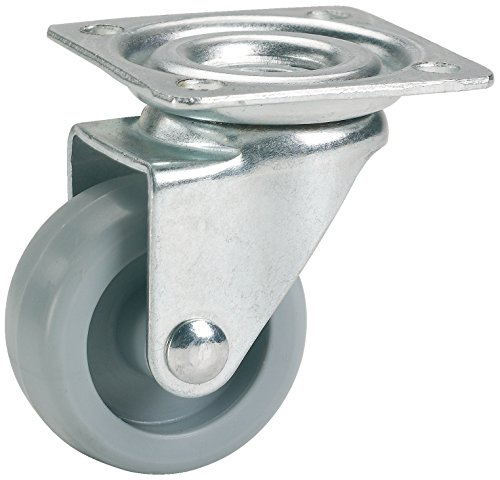 Dörner + Helmer Möbel-Lenkrolle (36 x 15 mm, Kunststoff-Rad) grau, 790130C