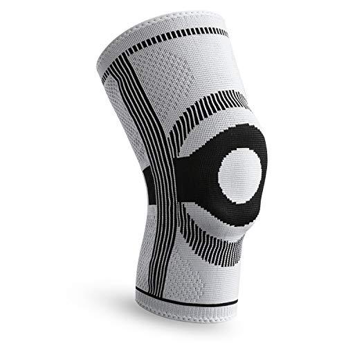 FREETOO Kniebandage Sport Knieschoner Kniestütze mit Wunderbare Rutschfestigkeit Stabilität & Atmungsaktivität geeignet für Volleyball,Basketball, Fußball,Wandern,Laufen,Crossfit