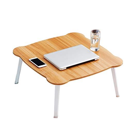ACD Mesa Portátil Ordenador Ajustable con Ruedas Cama Plegable para computadora portátil Mesa de Escritorio para el Dormitorio del alumno, Altura del Escritorio es Diferente, Puedes Elegir