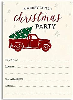 With Envelopes /& Seal Stickers Vinyl Party 25 Count 25ct Christmas Water Color #2 Holiday Season Party Gathering Invitations Invite Cards