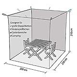 Outdoro Moskitonetz Kastenform inklusive Klebehaken für Reise und Zuhause - extra-groß für Doppelbett & Einzelbett - 8
