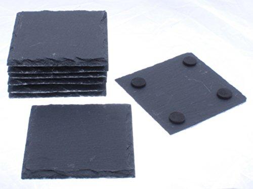 Naturschieferplatte 10x10 cm 8er Set