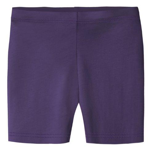 City Threads Little Girls Underwear Bike Shorts in All Cotton Perfect for SPD and Sensitive Skin Sports Dance School Uniform, Purple 3T