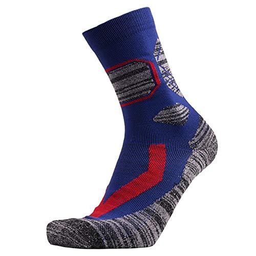 Vobery Skarpety termiczne, męskie skarpety zimowe narty turystyka górska bieganie skarpetki załoga buty skarpety do aktywności na świeżym powietrzu (niebieskie)