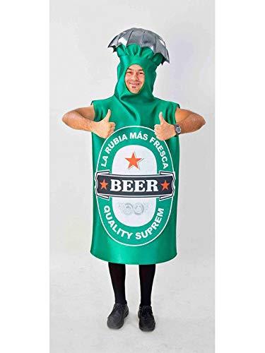 DISBACANAL Disfraz Botella de Cerveza Adulto - -, XL