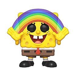 Alta 9cm ed inserita all'interno di una scatola trasparente da collezione POP! Vinyl Animation: Spongebob Squarepants S3 Spongebob (Rainbow)