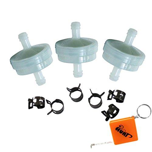HURI 3 Stück Kraftstofffilter ersetzt Briggs & Stratton 4112/394358 394358S Benzinfilter 75 Mikron Toro 56-6360 AM38708