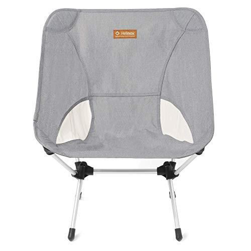 Helinox Chair One,Campingstuhl,Faltstuhl,Aluminium,Melange-Optik,leicht,stabil,faltbar,inkl Tragetasche,Silver Grey,one Size