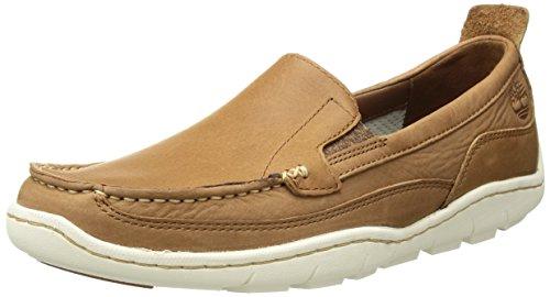 Timberland Herren Sandspoint venezianisches Driving Style Loafer, Braun (Hellbraun Vollmaserung), 47 EU