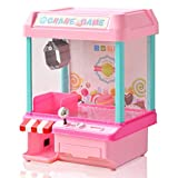 RiZKiZ クレーンゲーム 2WAY電源 [電池/microUSB電源] 【ピンク/ギフト包装】 コイン付き あのゲームが自宅で楽しめる!パーティーやお楽しみ会にも