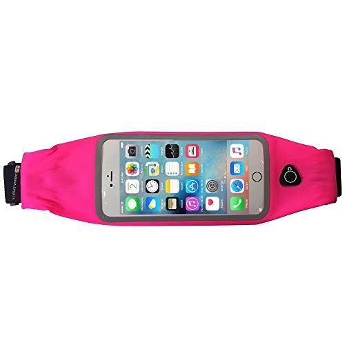 Cabana Sports Waikiki iPhone 8 Running Belt iPhone 7 Plus Waistband Sweatproof Running Pouch Belt for iPhone 6 Running Belt Fashion Fanny Packs for Women & Men, Reflective Waist Pack Belt(Pink)