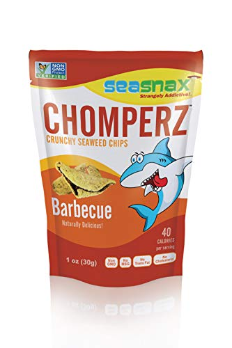 SeaSnax Barbecue Chomperz Crunchy Seaweed Chips, 1 oz (Pack of 8)