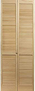 LTL Home Products 810430 Louvered Bifold Interior Wood Door, 36 Inches x 80 Inches, Unfinished Pine (Renewed)
