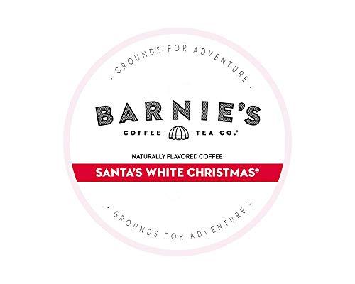 Barnie's Coffee & Tea Santa's White Christmas Single Serve Coffee, K cups for Keurig Brewers, Medium Roast, Arabica Coffe Beans, 24Count