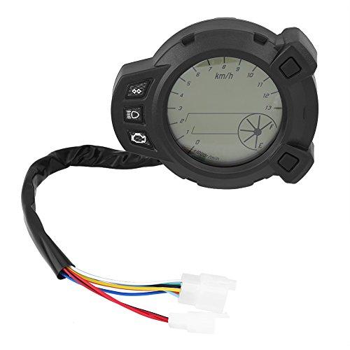 Keenso Motorrad Digital LCD Tachometer, Motorrad Kilometerzähler Tachometer Tachometer Geschwindigkeitsmesser Instrumente, 7 Farbe Meter